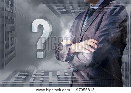 A Businessman Decides Against The Sky Maze.