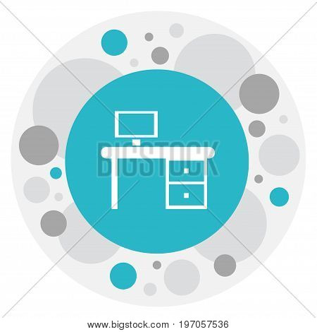 Vector Illustration Of Office Symbol On Work Table Icon