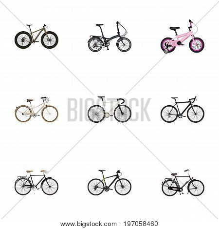 Realistic Fashionable, Cyclocross Drive, Old And Other Vector Elements
