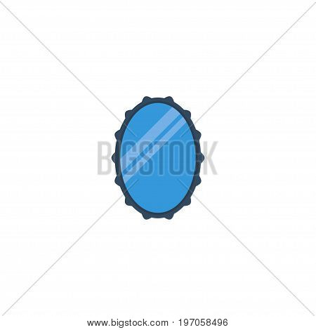 Flat Icon Mirror Element. Vector Illustration Of Flat Icon Looking-Glass Isolated On Clean Background