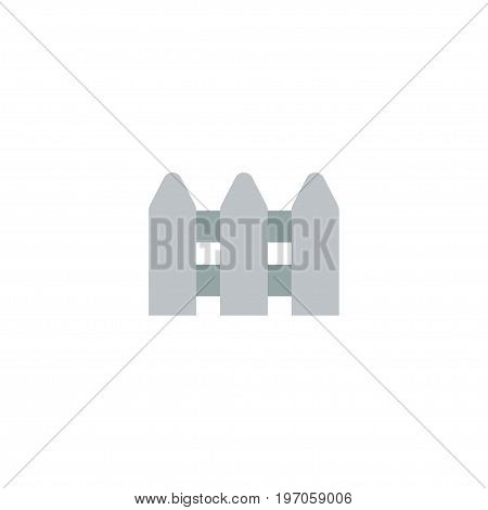Flat Icon Fence Element. Vector Illustration Of Flat Icon Wooden Barrier Isolated On Clean Background