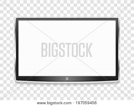 Modern LCD TV screen, vector eps10 illustration