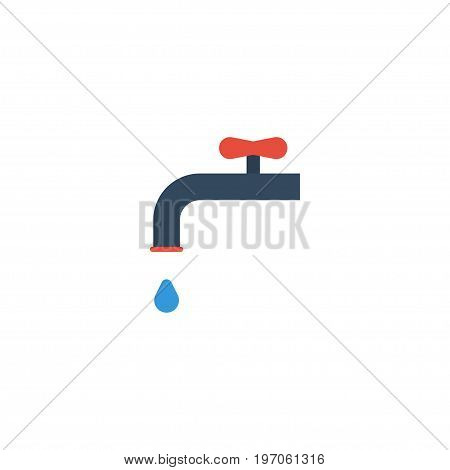 Flat Icon Irrigation Element. Vector Illustration Of Flat Icon Faucet Isolated On Clean Background