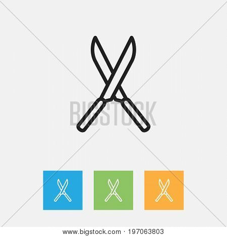 Vector Illustration Of Apparatus Symbol On Secateurs Outline