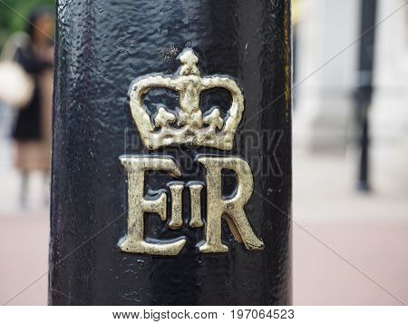 Royal Cypher Of The Queen In London