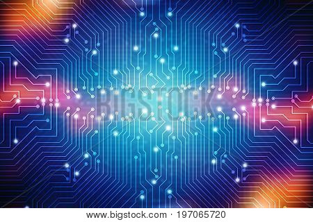 Digital Abstract technology background. Circuit Board Background. 2d illustration