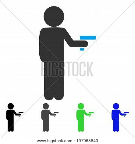 Child Robber flat vector pictograph. Colored child robber gray, black, blue, green pictogram variants. Flat icon style for application design.