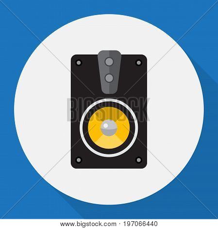 Vector Illustration Of Home Symbol On Speaker Flat Icon