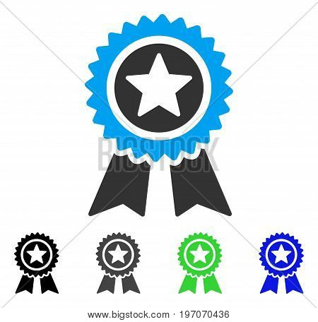 Guarantee flat vector icon. Colored guarantee gray, black, blue, green pictogram variants. Flat icon style for application design.