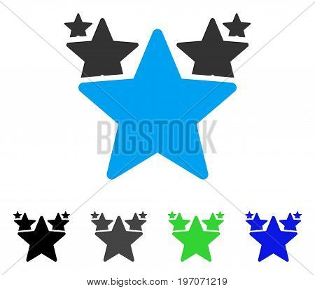 Stars Hit Parade flat vector icon. Colored stars hit parade gray, black, blue, green icon variants. Flat icon style for graphic design.