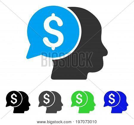 Business Idea flat vector icon. Colored business idea gray, black, blue, green icon versions. Flat icon style for graphic design.
