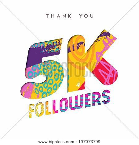 5K Social Media Follower Number Thank You Template