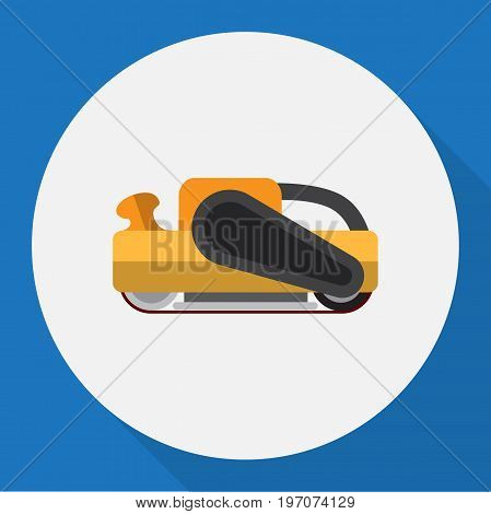 Vector Illustration Of Instruments Symbol On Sander Flat Icon poster