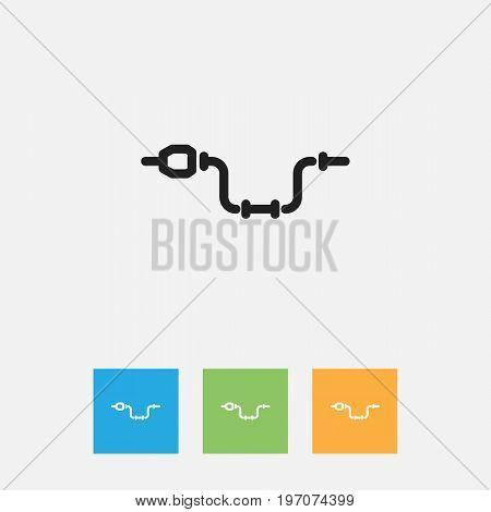 Vector Illustration Of Equipment Symbol On Drill Outline