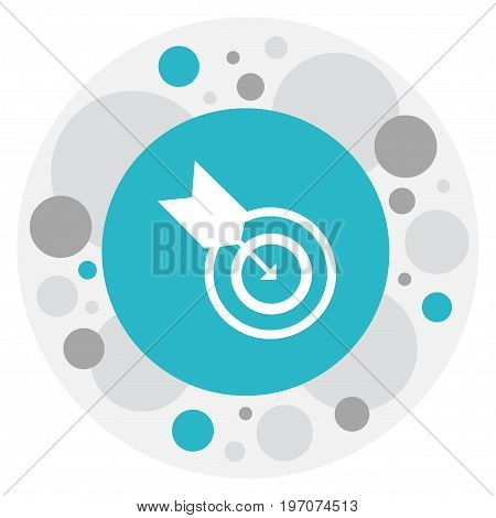 Vector Illustration Of Science Symbol On Goal Icon