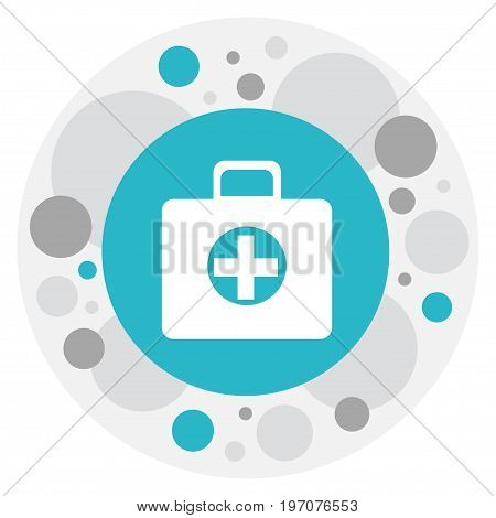 Vector Illustration Of Complicated Symbol On Medical Case Icon