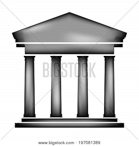 Bank icon sign on white background. Vector illustration.