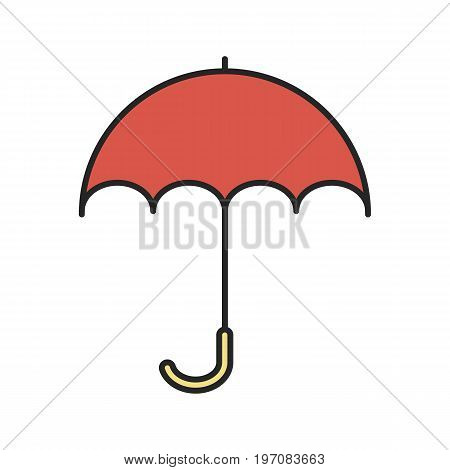 Umbrella color icon. Opened rain umbrella. Isolated vector illustration