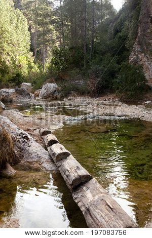 Matarranya river in Los Port mountains natural park