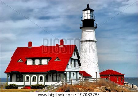 Headlight of Maine / The Portland Headlight Lighthouse in Portland, Maine