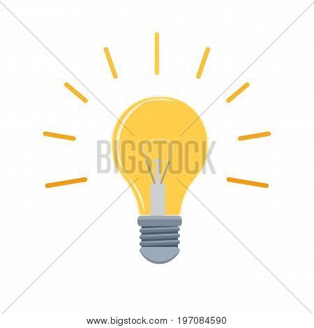vector illustration colorful icon yellow glowing lamp
