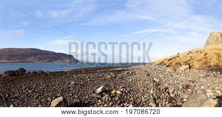 Waternish beach in Isle of Sky. Scotlnad