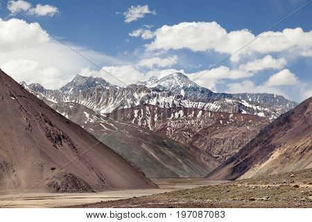 Cajon of Maipu. Andes mountains. Santiago of Chile
