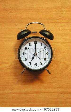 Vintage alarm clock classic style clock face for time and wake up concept
