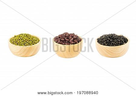 Black beans red beans and mung beans