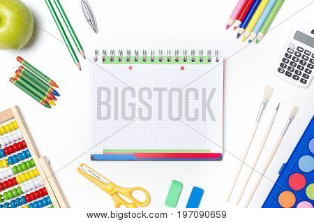 Back To School Supplies Composition