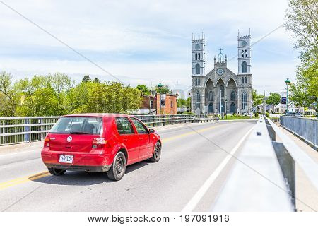 Sainte-anne-de-la-perade, Canada - May 29, 2017: Parish Of Sainte Anne De La Perade In Small Town On