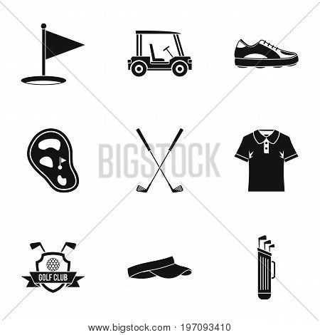 Championship golf icons set. Simple set of 9 championship golf vector icons for web isolated on white background
