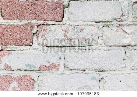 Shabby Vintage Retro Urban Beautiful Brick Wall Background Horizontal.