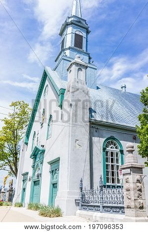 Saint-augustin-de-desmaures, Canada - May 29, 2017: Parish Of Sainte Augustin In Small Town On Chemi
