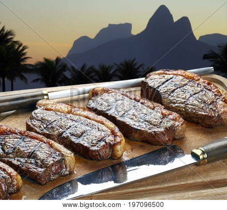 Grilled picanha, traditional Brazilian cut in Rio de Janeiro