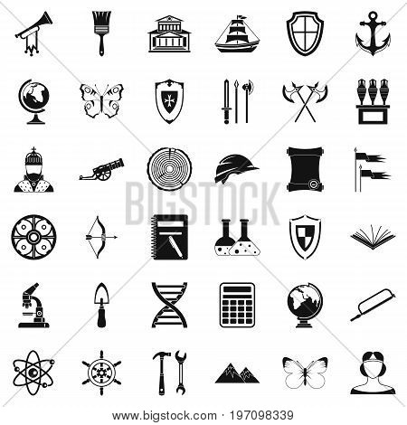 Searching icons set. Simple style of 36 searching vector icons for web isolated on white background