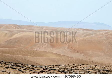Arid terrain of the desert - natural background