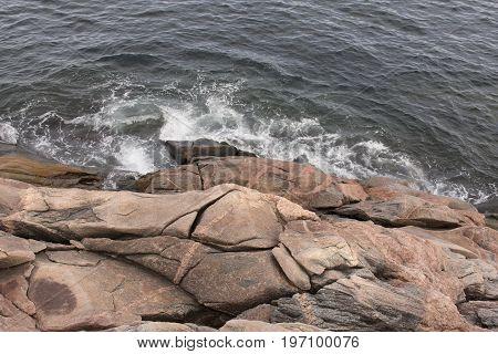 Water Crashing On Rocks Overhead