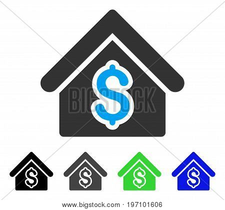 House Rent flat vector pictogram. Colored house rent gray, black, blue, green icon variants. Flat icon style for web design.