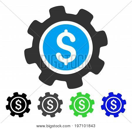 Payment Options flat vector illustration. Colored payment options gray, black, blue, green icon versions. Flat icon style for web design.