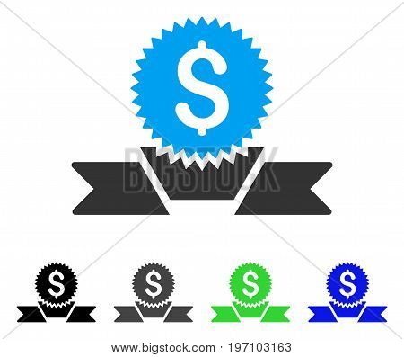 Banking Award flat vector pictogram. Colored banking award gray, black, blue, green pictogram versions. Flat icon style for web design.