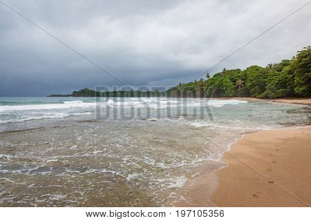 Beach forest and storm sky Costa Rica