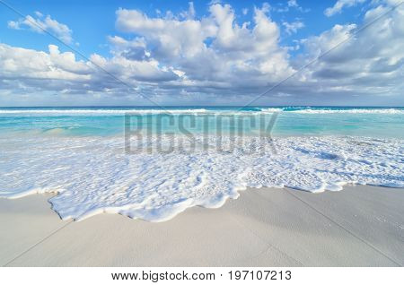 Stunning sea view at sandy beach - natural background