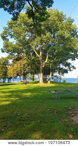 Summertime at Cedar Point State Park in NY