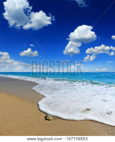 Soft wave of the sea on the beach