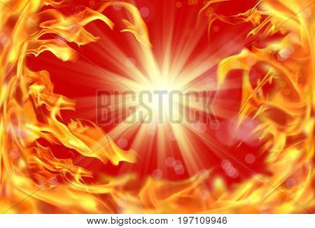 background image of close up abstract fire flames