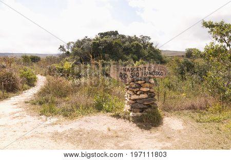 Source of San Francisco River Serra da Canastra National Park is a national park in the Canastra Mountains of the state of Minas Gerais Brazil.