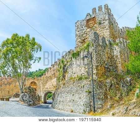 The Gates And Towers Of Alanya Fortress