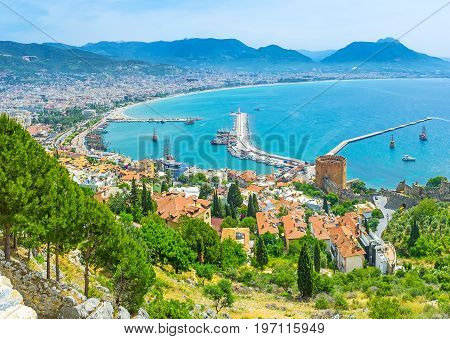 Red Roofs Of Alanya