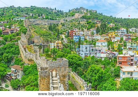 Architecture Of Tophane District Of Alanya
